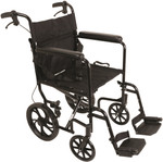 "Probasics Aluminum Transport Chair with 12"" Wheels TCA191612BK"