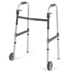 "Invacare Junior Paddle Folding Walker & 5"" Wheels 6291-JR5F"