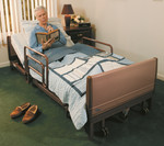 Invacare Full Electric Low Bed w/ Mattress & Rails