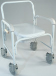 Wheeled Commode with Elongated Seat 3217 by TFI Healthcare