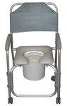 Shower Padded Commode Chair w/ Wheels 11114KD-1 by Drive