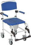 Drive Aluminum Rehab Shower Commode Chair 5'' Casters NRS185007