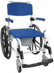 Drive Aluminum Rehab Commode Shower Chair 24'' Wheels NRS185006