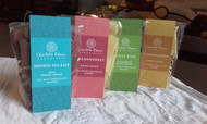 Flavoured chocolate shards, 4 bag multipack