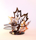 Autumn Maple Leaf Candle Holder Single