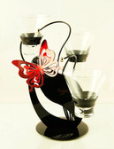 Butterfly and Leaf Candle Holder 3
