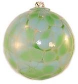 Opaque Aqua & Nile Green 4 Inch Kugel