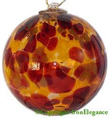 Amber, Brown & Gold 4 Inch Kugel (Autumn)
