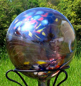 Gazing Ball Circus Amethyst