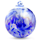 "XXL Witch Ball ""Delft Blue"" Iridized"