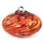 Dark Red, Orange & Gold Orb Kugel (Coral)