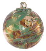 """Small Witch Ball """"Toad Back""""  (silver nitrate)"""