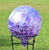 Garden Gazing Ball Lavender Lilly