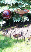 Victorian Gazing Ball Stands (3 pc set)