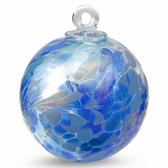 "Small Witch Ball ""Aqua Blues""  Iridized"
