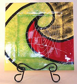 Painted Glass Plate XL Assortment  Quantity 8