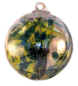 "Witch Ball ""Jade"" Iridized"