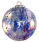 "Witch Ball ""Aqua Blues""  Iridized"