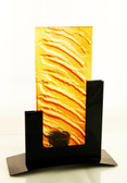 Metro Tealight Candle Holder Amber
