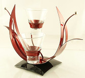 Hosta Red Candle Holder