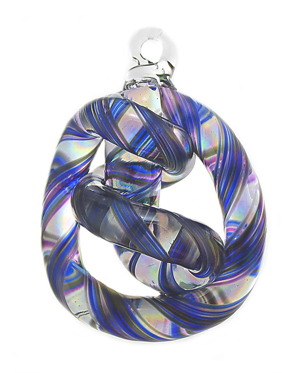 Unity Knot Blue, Black & Violet - Iron Art Glass Designs
