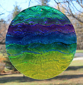 "Multicolor Water Glass Sun Disk  ""Gentle Wave"""