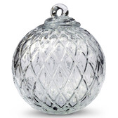 Diamond Optic Friendship Ball, Clear Iridized (4 inch)