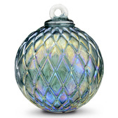 Diamond Optic Friendship Ball, Emerald Iridized (4 inch)