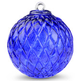 Diamond Optic Friendship Ball, Sari Blue (4 inch)