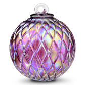 Diamond Optic Friendship Ball, Wine Red Iridized (4 inch)