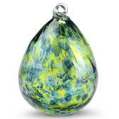 "Double Bubble Glass Aroma Friendship Ball ""Jade"""