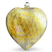 Diamond Optic Extra Large Heart, Amber Iridized