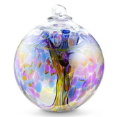"XXL Witch Ball ""Chaos Iris"" Iridized 10 Inch"