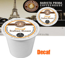 Barista Prima Decaf Italian Roast Coffee K-Cup® Pod Bold yet ideally balanced, with a subtle hint of smokiness and a sweet, clean finish, our Italian Roast for the Keurig Brewer