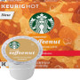 Starbucks Toffeenut Coffee K-Cup® Pod. Buttery and nutty. Rich and smooth with the balanced flavors of toffee and roasted nuts. Compatible with most or all single cup brewers including Keurig® and Keurig® 2.0