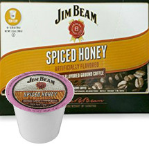 Jim Beam Spiced Honey Coffee Single Cup. Sweet honey and warm, savory spice in a medium body coffee. This is a non-alcoholic product. Compatible with most single cup brewers including Keurig and Keurig 2.0.