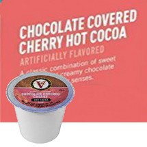 Victor Allen's Coffee Chocolate Covered Cherry Hot Cocoa Single Cup. A classic combination of sweet cherries and creamy chocolate will delight your senses. Compatible with most single cup brewers including Keurig and Keurig 2.0.