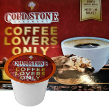 Cold Stone Creamery Coffee Lovers Only Coffee Single Cup. Cold Stone Creamery coffee combines our indulgent ice cream flavors with perfectly roasted coffee beans. Our Coffee Lovers Only coffee is an aromatic and rich blend of 100% arabica coffee beans with a smooth finish.  Compatible with most single cup brewers including Keurig and Keurig 2.0.