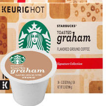 Starbucks Toasted Graham Coffee K-Cup® Pod. Inspired by the classic graham cookie, our medium roast shines with notes of honey and cinnamon.. Compatible with most or all single cup brewers including Keurig® and Keurig® 2.0