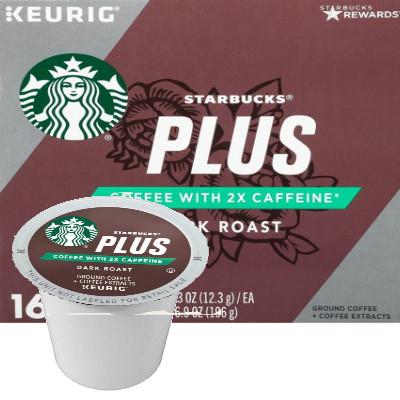 e421d046b25 Starbucks Plus 2X Caffeine Dark Roast Coffee K-Cup® Pod. Compatible with  most