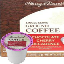 Harry & David Chocolate Cherry Decadence Coffee Single Cup. Savor rich, deep notes of chocolate and cherry whenever you want with convenient single-serve cups of our Chocolate Cherry Decadence coffee. Made from 100% Arabica beans. Compatible with all single serve brewers, including Keurig® and Keurig® 2.0.