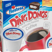 Hostess Ding Dong Coffee Single Cup. Extra rich chocolate Ding Dongs cake flavors are combined with notes of creamy vanilla filling. Compatible with most single cup brewers including Keurig and Keurig 2.0.
