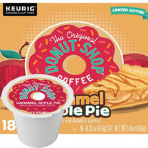 The Original Donut Shop Caramel Apple Pie Coffee K-Cup® Pod. A bounty of rich caramel goodness and the warm, welcoming flavors of a classic apple pie make every sip a little slice of heaven. Compatible with most single cup brewers including Keurig and Keurig 2.0.