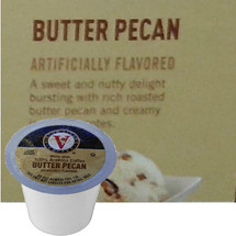 Victor Allen's Coffee Butter Pecan Coffee Single Cup. A sweet and nutty delight bursting with rich roasted butter pecan and creamy ice cream notes. Compatible with most single cup brewers including Keurig and Keurig 2.0.