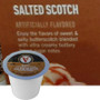 Victor Allen's Coffee Salted Scotch Coffee Single Cup. Enjoy the flavors of sweet & salty butterscotch blended with ultra creamy buttery brown sugar notes. Compatible with most single cup brewers including Keurig and Keurig 2.0.