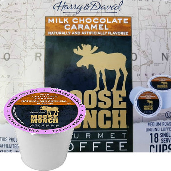 Harry & David Milk Chocolate Caramel Coffee Single Cup. Compatible with all single serve brewers, including Keurig® and Keurig® 2.0.