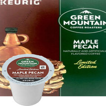 Green Mountain Maple Pecan Coffee K-Cup Pod. A familiar blend of sweet maple syrup and rich, buttery pecan flavors create a warm and welcoming complement to any autumn day. Compatible with most single cup brewers including Keurig & Keurig 2.0.