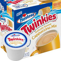 Hostess Twinkies Cappuccino Single Cup. A delicious cappuccino made with 100% Arabica beans. Compatible with most single cup brewers including Keurig and Keurig 2.0.