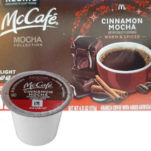 McCafe Cinnamon Mocha Coffee K-Cup® Pod. Compatible with all single cup brewers.