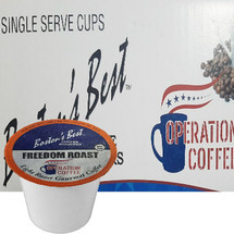 Boston's Best Coffee Roasters Freedom Roast Coffee Single Cup. Compatible with most or all single cup brewers including Keurig® and Keurig® 2.0